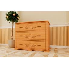 Комод деревянный ЧДК Магнолия 3 ящика