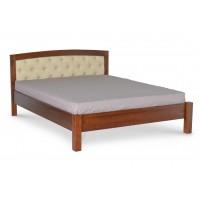 Кровать деревянная Raduga Полина с мягким изголовьем