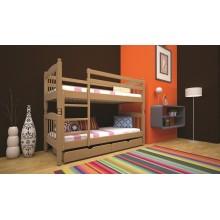 Кровать детская деревянная ТИС Трансформер 3, бук