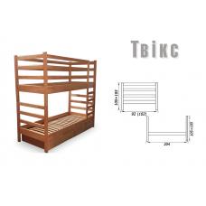 Кровать деревянная Sovinion Твикс двухъярусная