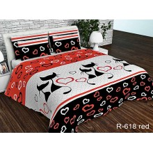 Комплект постельного белья TAG Tekstil R618red