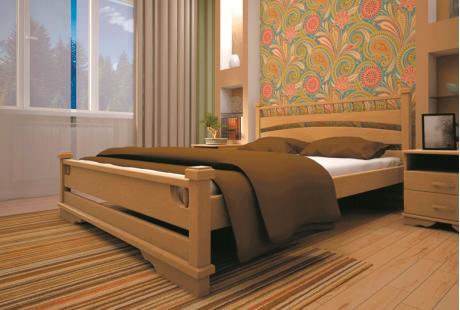 Кровать деревянная ТИС Атлант 1, дуб