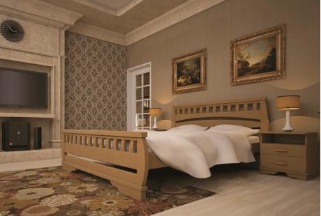 Кровать деревянная ТИС Атлант 4, дуб