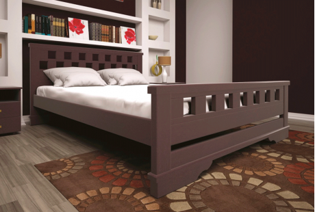Кровать деревянная ТИС Атлант 9, бук