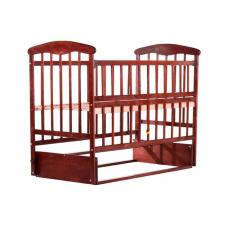 Кровать Наталка ОТМО с откидной боковушкой и маятником Ольха темная