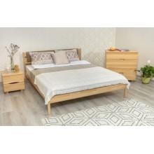 Кровать деревянная Олимп Лика с мягкой спинкой (без изножья)