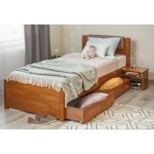 Кровать деревянная Олимп Лика Люкс с мягкой спинкой (с ящиками)
