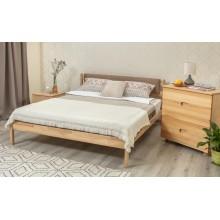 Кровать деревянная Олимп Лика с мягкой спинкой (без изножья, с ящиками)