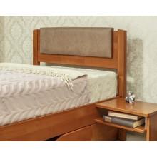 Кровать деревянная Олимп Лика Люкс с мягкой спинкой