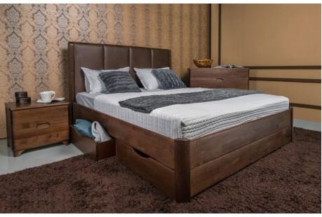 Кровать деревянная Олимп Челси с ящиками
