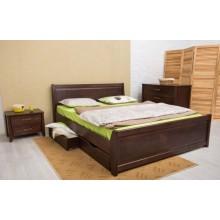 Кровать деревянная Олимп Сити Премиум (с филенкой, с ящиками)
