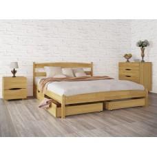 Кровать деревянная Олимп Лика (без изножья, с ящиками)