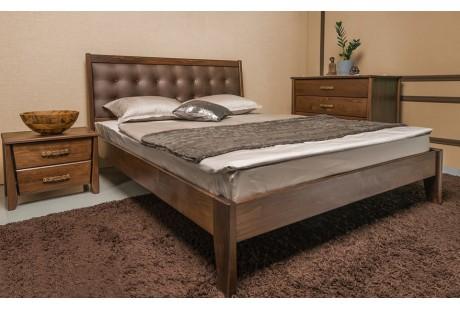 Кровать деревянная Олимп Сити Премиум с мягкой спинкой (без изножья)