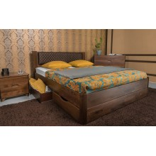 Кровать деревянная Олимп Грейс с ящиками