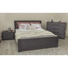 Кровать деревянная Олимп Оксфорд с мягкой спинкой (с ящиками)