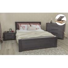 Кровать деревянная Олимп Оксфорд с мягкой спинкой (с подъемной рамой)