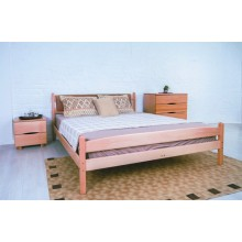 Кровать деревянная Олимп Лика с мягкой спинкой