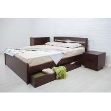 Кровать деревянная Олимп Лика Люкс (с ящиками)