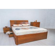 Кровать деревянная Олимп Марита Люкс (с ящиками)