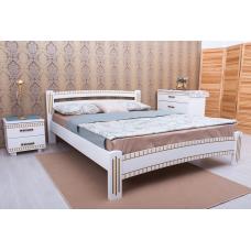 Кровать деревянная Олимп Милана Люкс (с фрезеровкой)