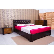 Кровать деревянная Олимп Милена (с мягкой спинкой, квадраты)