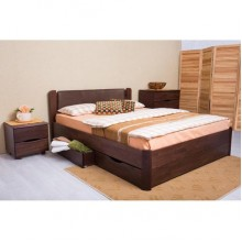 Кровать деревянная Олимп София V Премиум (с ящиками)