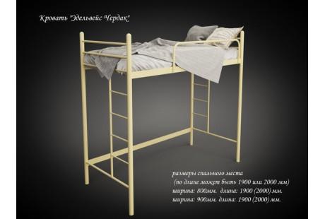 Кровать металлическая Tenero Эдельвейс чердак