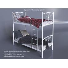 Кровать металлическая Tenero Жасмин 2 яруса
