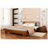 Кровать деревянная Эстелла ТИТАН Бук (ЩИТ)