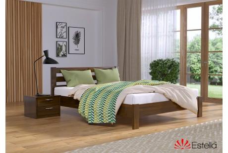 Кровать деревянная Эстелла РЕНАТА Люкс Бук (МАССИВ)