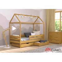 Кровать деревянная Эстелла АММИ Бук (МАССИВ)