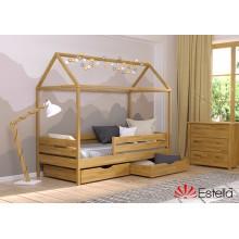 Кровать деревянная Эстелла АММИ Бук (ЩИТ)