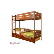 Кровать деревянная Эстелла ДУЭТ Бук (ЩИТ)