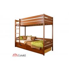 Кровать деревянная Эстелла ДУЭТ 102 Бук (ЩИТ)