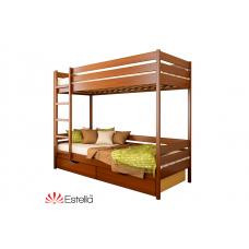 Кровать деревянная Эстелла ДУЭТ Бук (МАССИВ)