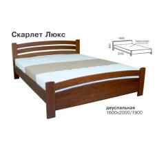 Кровать деревянная Melbi Скарлет Люкс